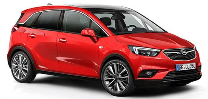 opel crossland x llegar para reemplazar al meriva en 2017. Black Bedroom Furniture Sets. Home Design Ideas